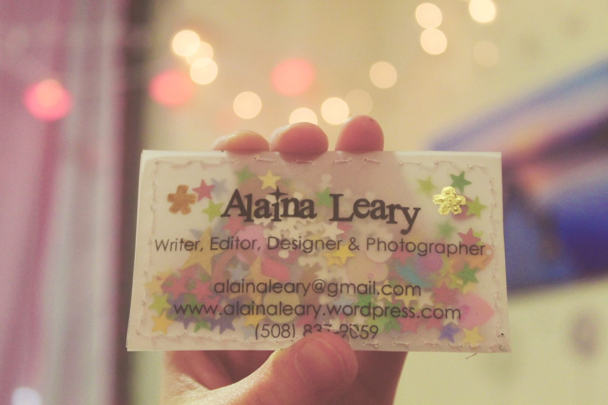 Do It Yourself Confetti Business Cards Thank You S